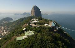 Helicopter Flight over Rio de Janeiro - 6-7 min - #1 Sugarloaf (Morro da Urca) Helipad