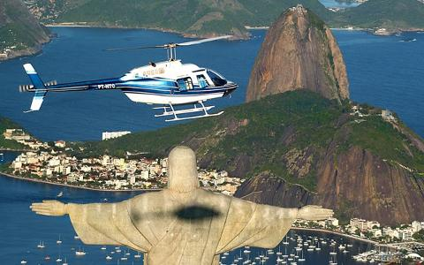 30 min Panoramic Helicopter Flight over Rio de Janeiro - Min 3 people
