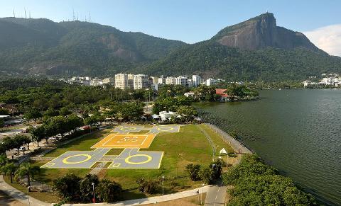 Helicopter Flight over Rio de Janeiro - 7-8 min - #1 Lagoa Helipad