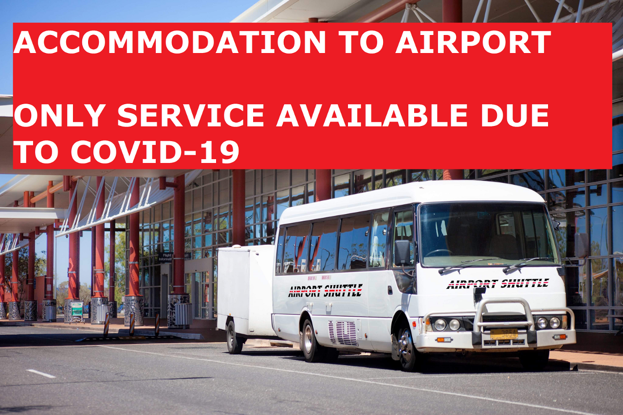 Airport Shuttle - Accommodation to Airport - LIMITED SCHEDULE DUE TO COVID-19