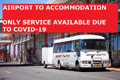 Airport Shuttle - Airport to Accomodation - LIMITED SCHEDULE DUE TO COVID-19
