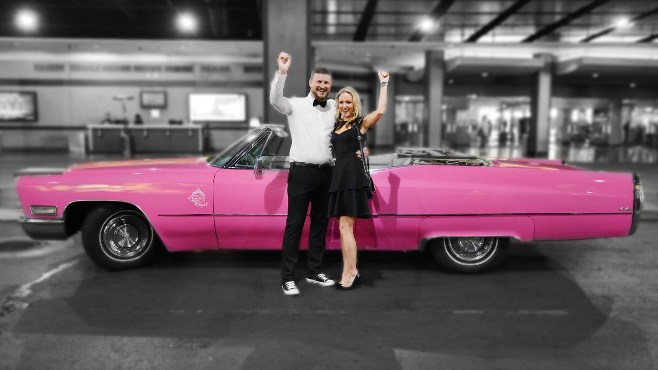 $649 | Neon Pink Cadillac | Traditional