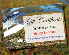 Fall Colours Tour - Gift Certificate