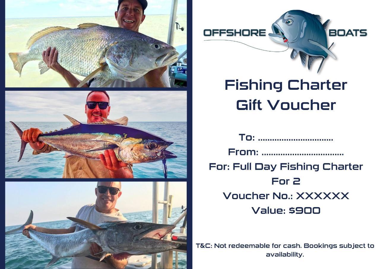Gift Voucher - Full Day Fishing Charter For 2