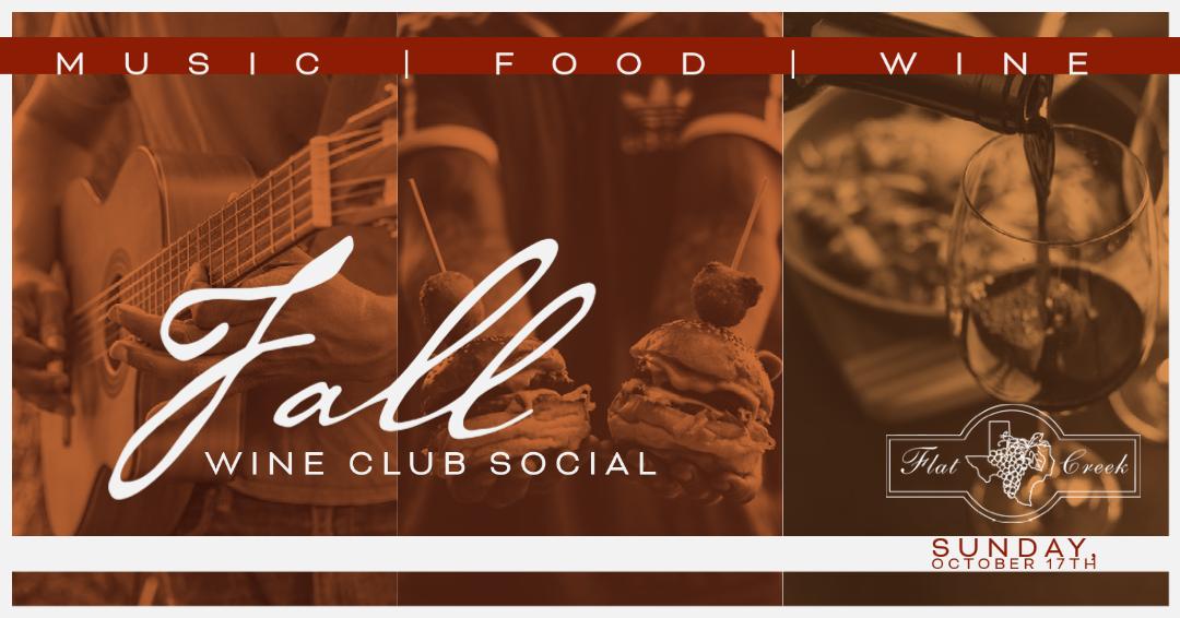 Fall Wine Club Social