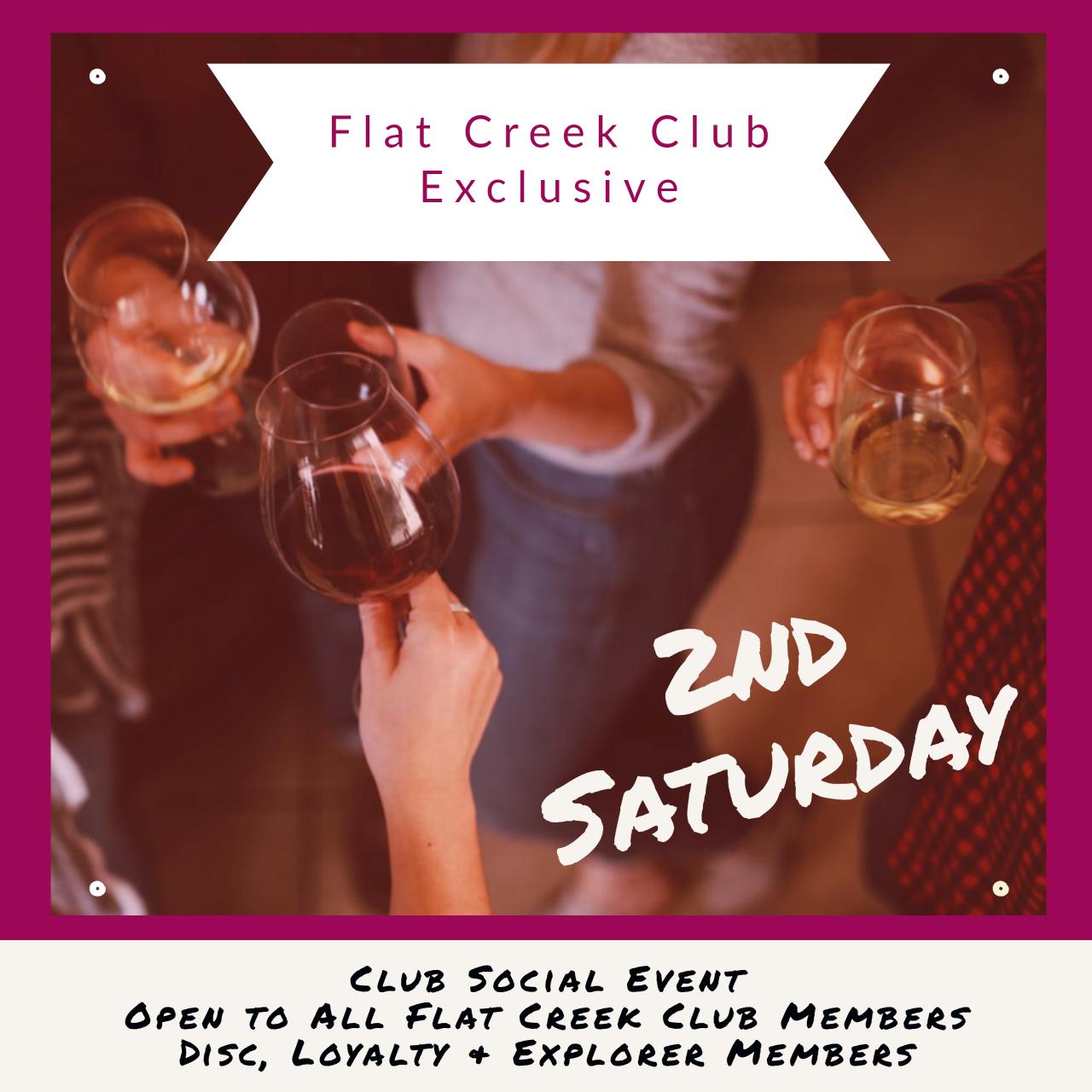 CLUB EXCLUSIVE - 2nd Saturday Social