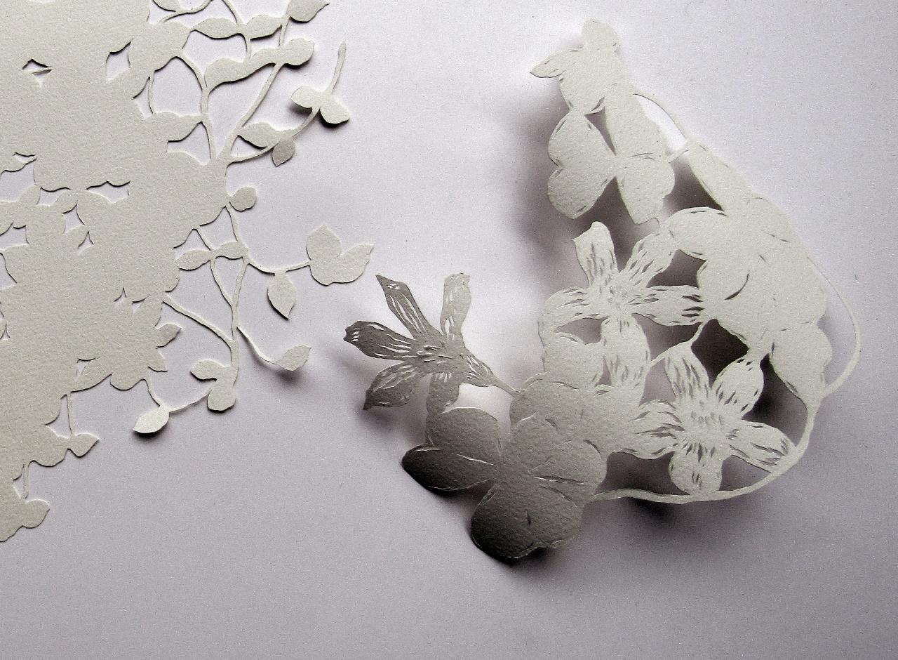 Lace papercutting workshop with Pamela See