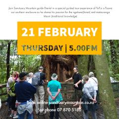 Share the mauri and the mana of the maunga - 21st February