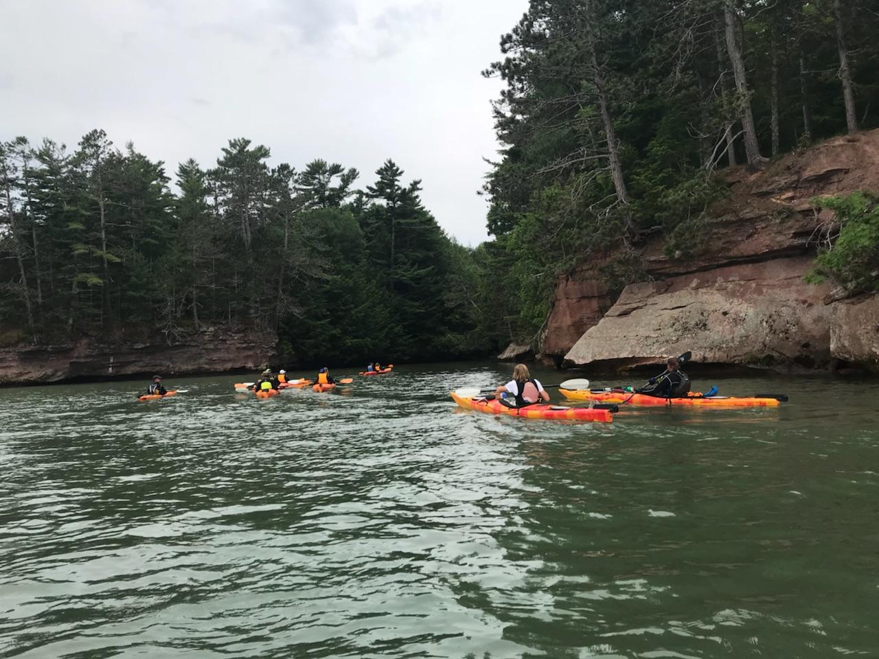 "Chequamegon Caves and Sea Stack Tour - Alternate  Kayak Tour if Meyers Beach has ""Bad"" Weather"
