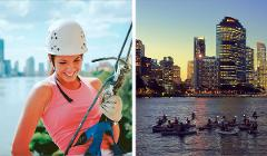 Abseil Experience + Twilight Kayak & Dining Experience Combo Deal