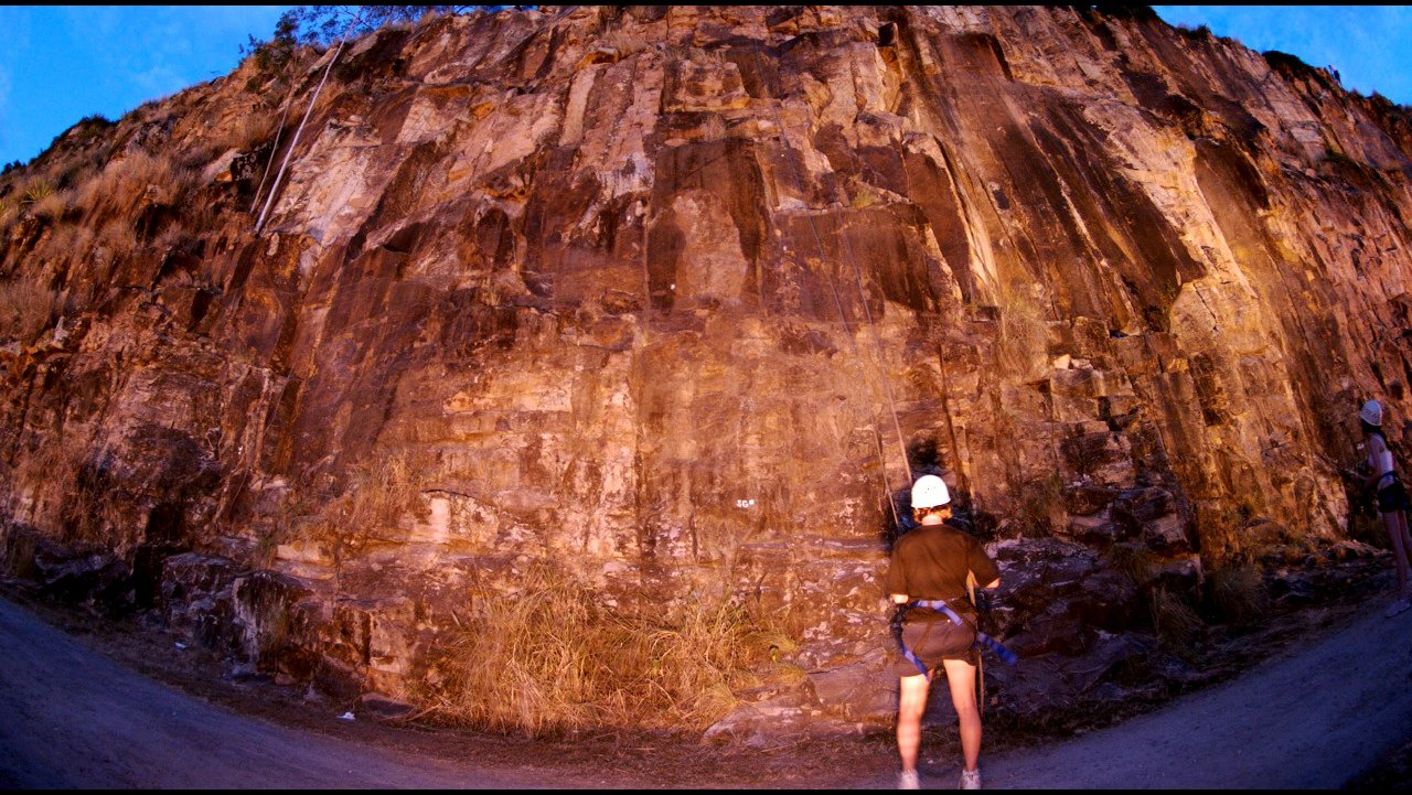 Night Rock Climbing