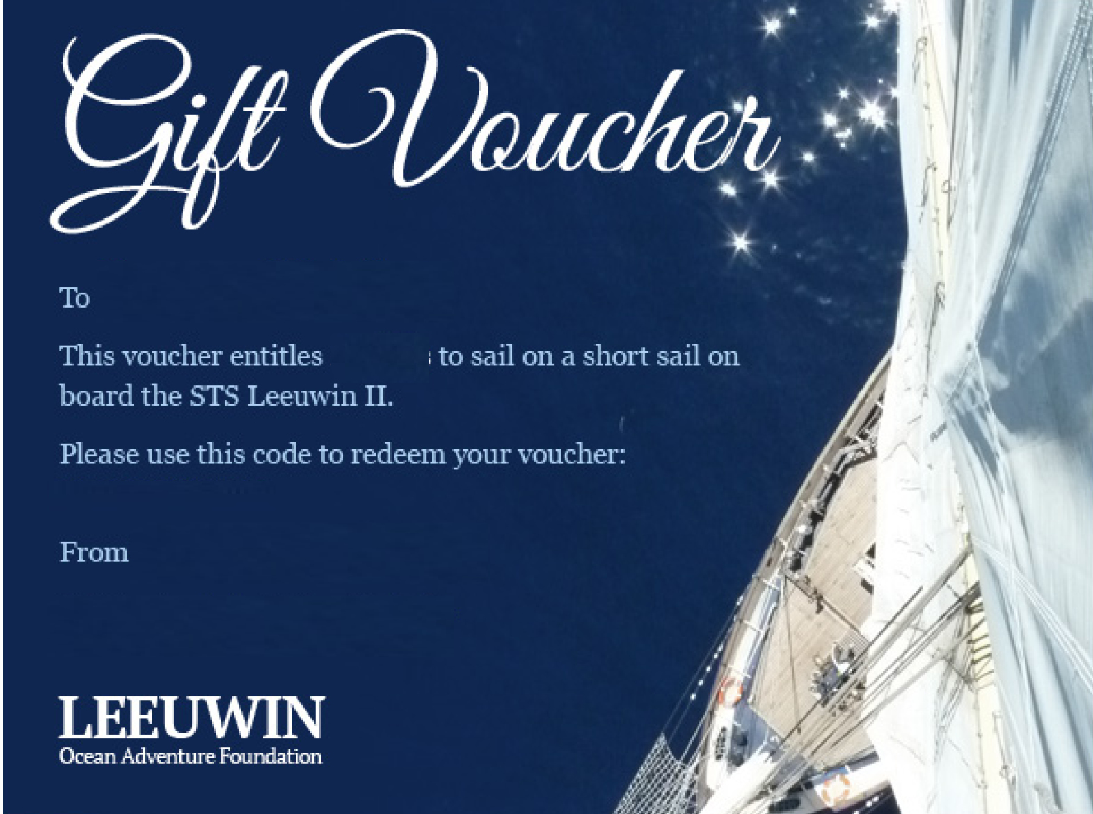 Luncheon Sail 4-Hour Gift Voucher