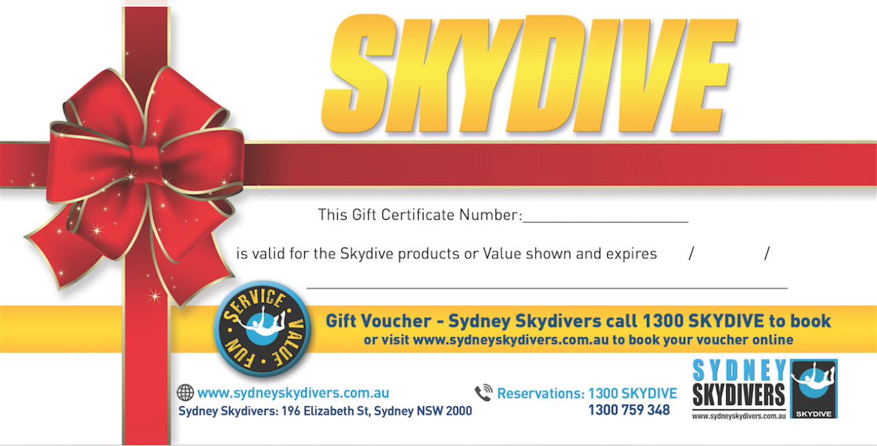 Gift Special - Tandem Skydive Including Video