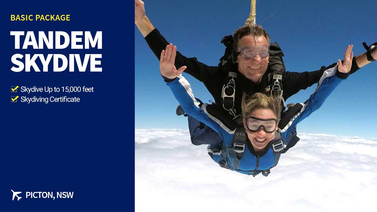 Tandem Skydive up to 15,000ft