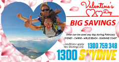 Tandem Skydive Special - Valentines [Free Transfers]