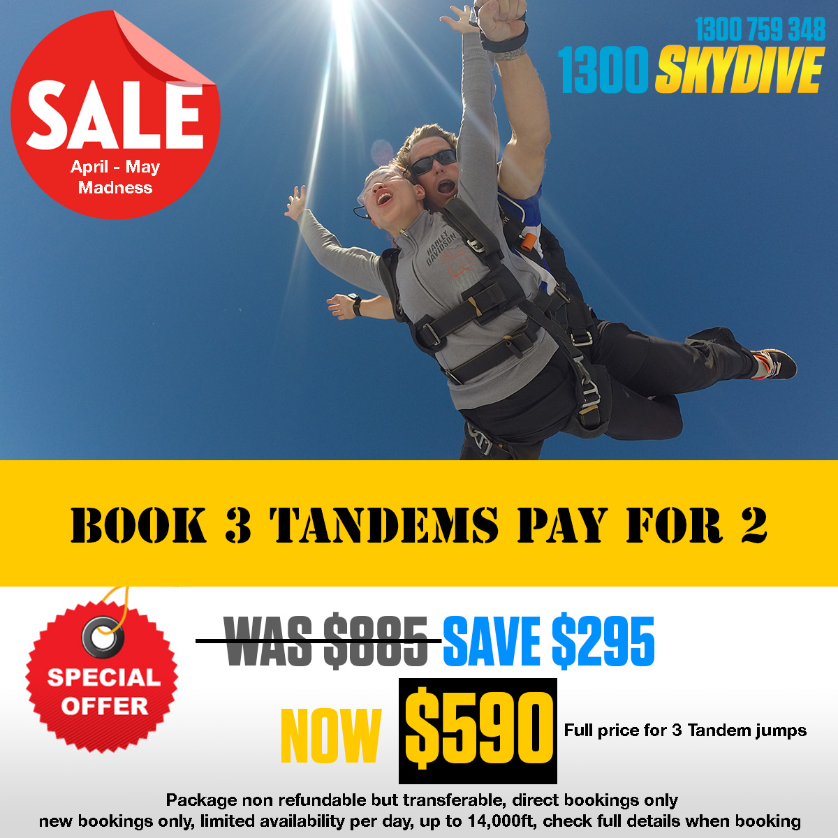 Tandem Skydive - Book 3 pay 2