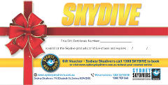 Skydive Gift Card [Weekend]
