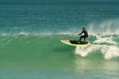 Surf in a desert beach