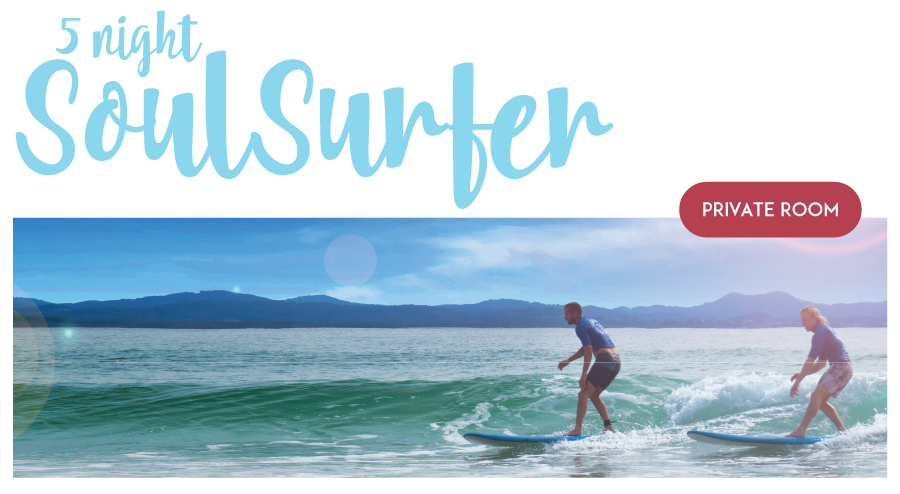 "5 Night Private (1 Person) Surf and Stay ""The Soul surfer Package"""