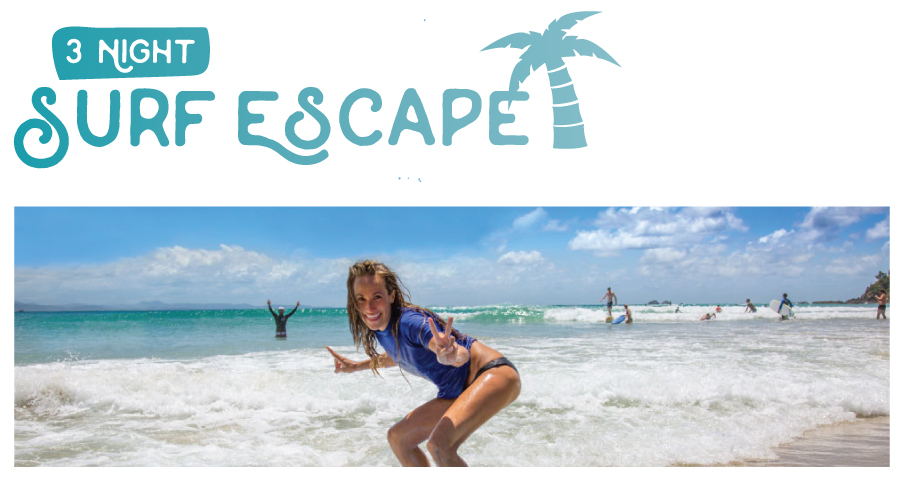 "3 Night Surf and Stay ""The Surf Escape Package"""
