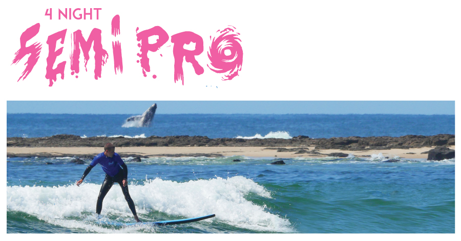 "4 night Surf and Stay ""The Semi Pro Package"" PEAK SEASON"