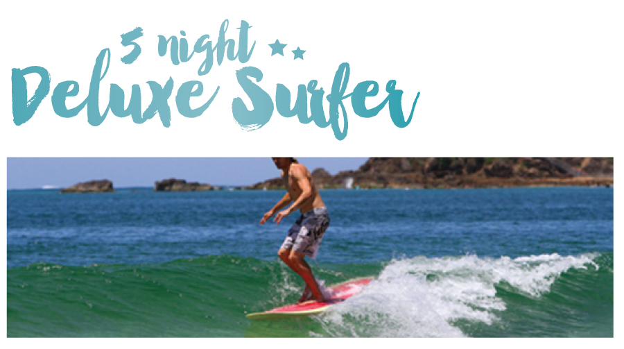 "5 Night Surf and Stay ""The Deluxe Surfer package"" Twin Room (2 People)"