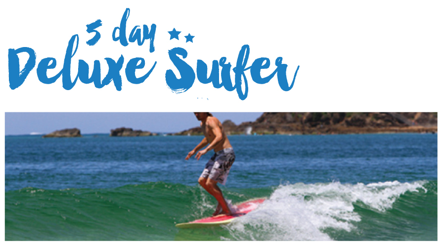 """5 Night Surf and Stay """"The Deluxe Surfer Package"""""""