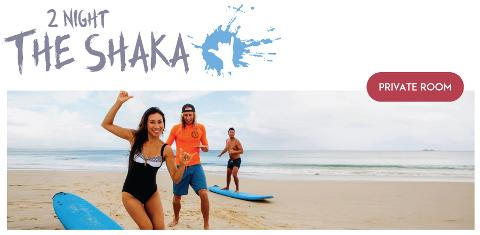 "2 night Private (2 people) Surf and Stay ""The Shaka package"""