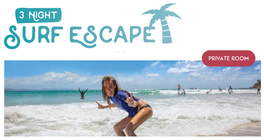 "3 Night Private (2 people) Surf and Stay ""The Surf Escape Package"""