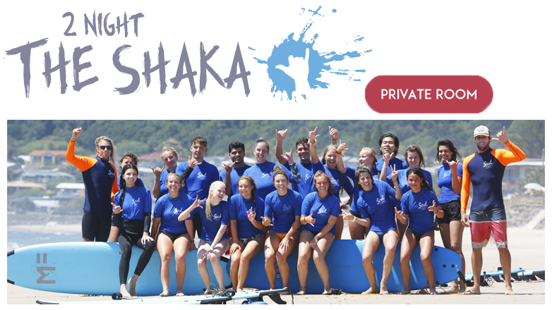 """2 night Private (2 people) Surf and Stay """"The Shaka Package"""" OFF PEAK SPECIAL"""