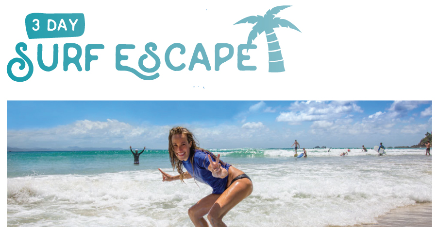 "3 Night Surf and Stay ""The Surf Escape Package"" Off peak special"