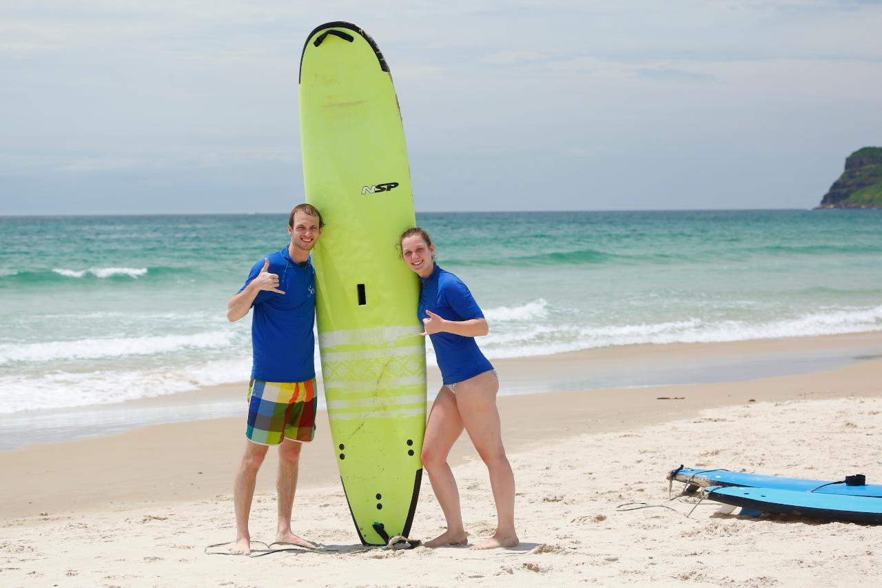 Two Surfers / One Instructor