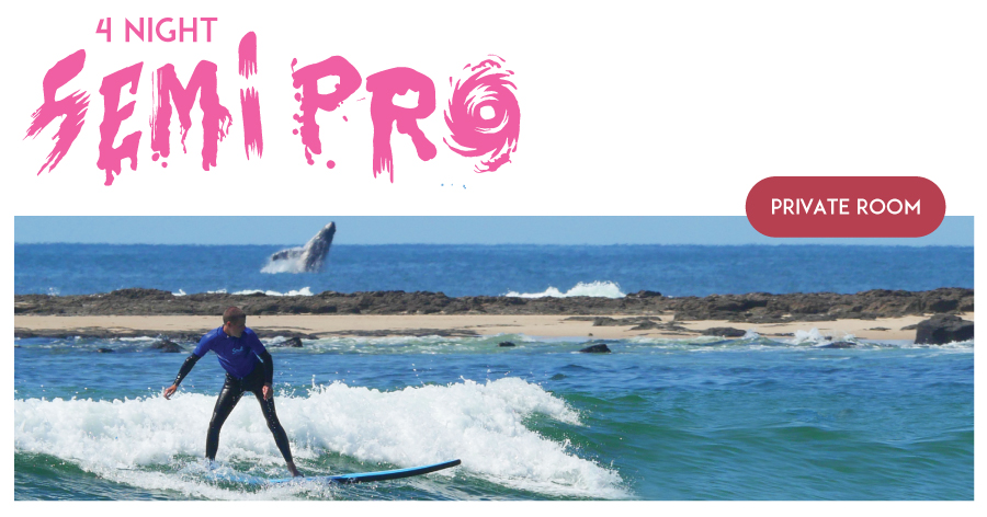 "4 night Private (1 Person) Surf and Stay ""The Semi Pro Package"" PEAK SEASON"