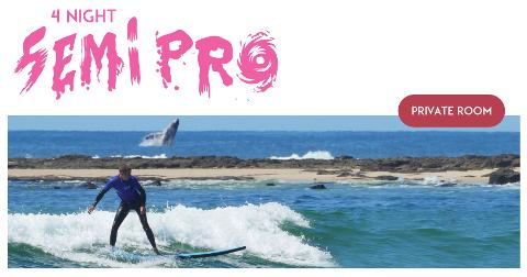 "4 night Private (1 Person) Surf and Stay ""The Semi Pro Package"""