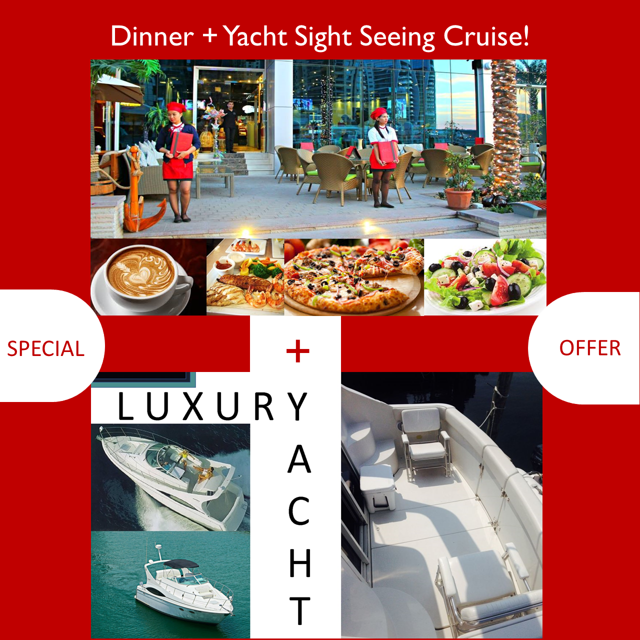 Luxury Yacht Sight Seeing Tour + Dinner