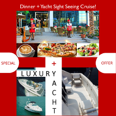 Luxury Yacht Sight Seeing Tour + Dinner