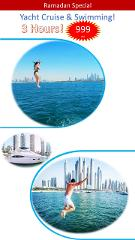 3 Hour Yacht Cruise & Swimming Package ONLY 999 aed!