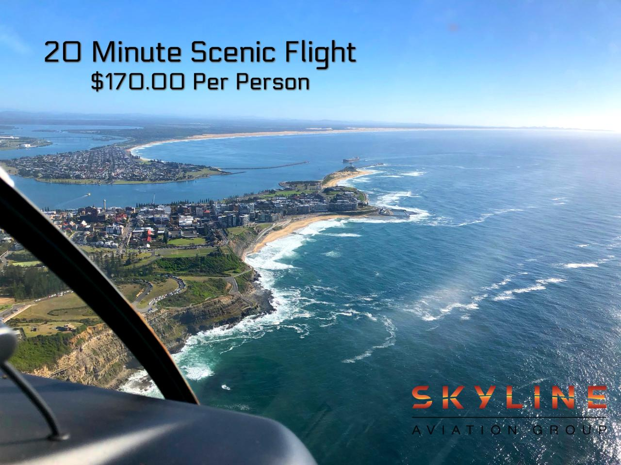 20 Minute Newcastle Helicopter Flight