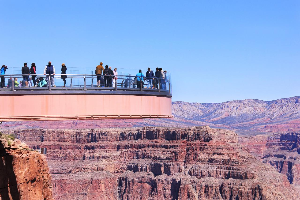 Grand Canyon West Rim, Hoover Dam, Seven Magic Mountains Day Tour