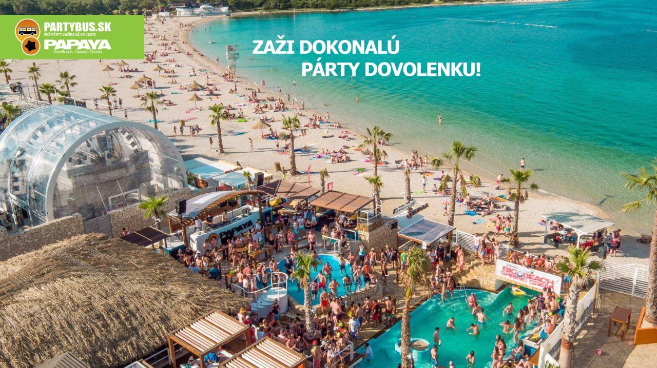 Letná pártydovolenka na Zrće   turnus 28.7.-4.8.2018