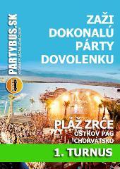Letná pártydovolenka na Zrće | 1. turnus od 30.6. do 9.7.2017