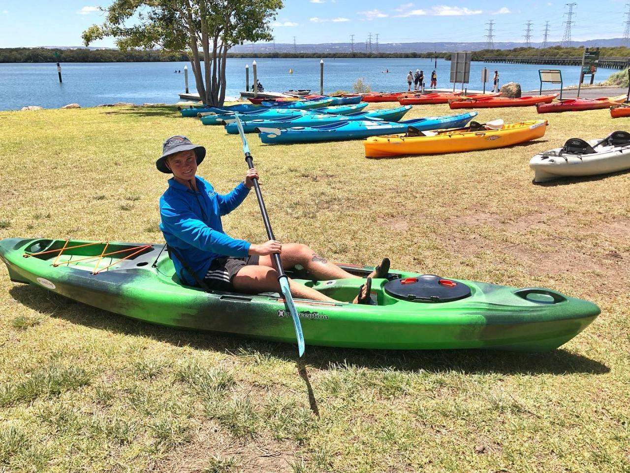 Dolphin Sanctuary & Ships Graveyard Kayak Hire-1-person sit on kayak