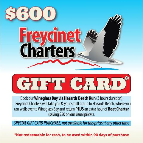 Freycinet Charters Gift Card Tasmania Australia