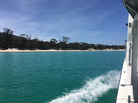 Freycinet Charters—Wineglass Bay via Hazards Beach Tasmania Australia