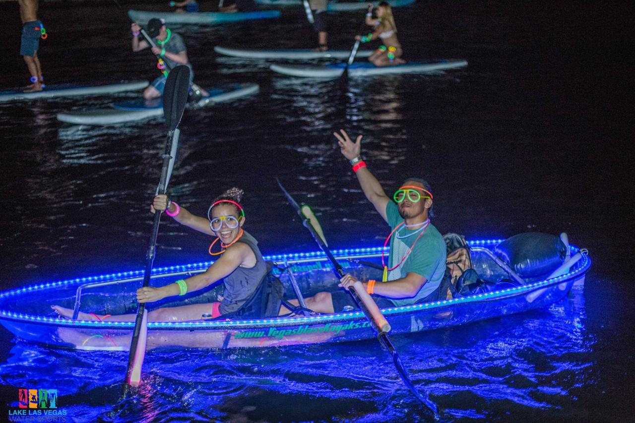 September 2nd FIREWORK PADDLE  2 Person VIP LED Glass Kayak