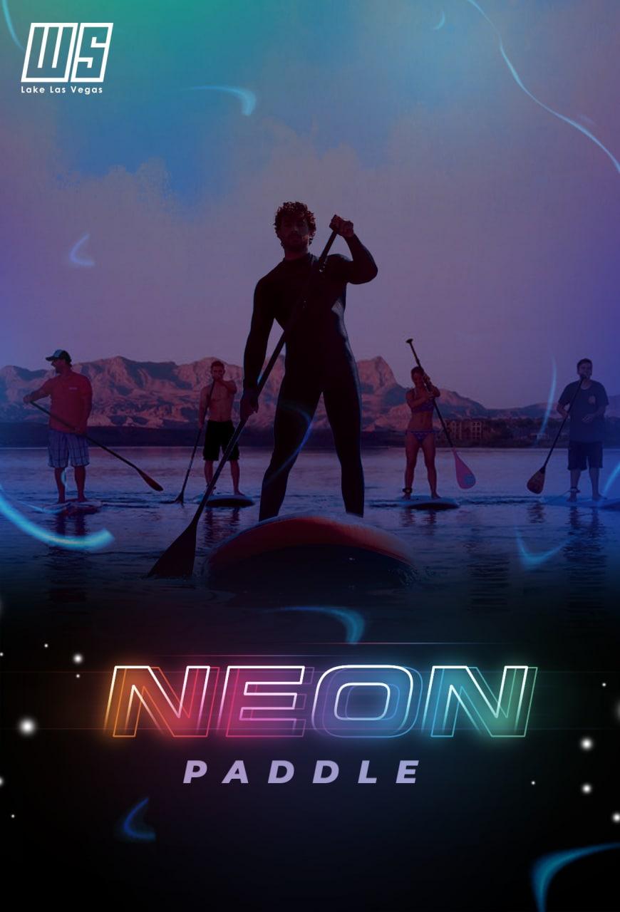 Neon Paddle At Lake Las Vegas