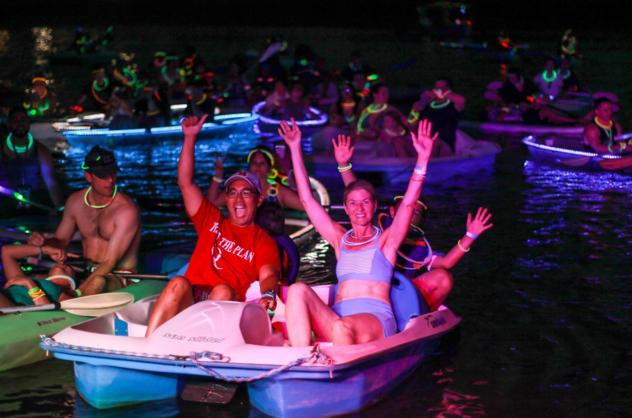 Neon Paddle 4 Person Pedal Boat
