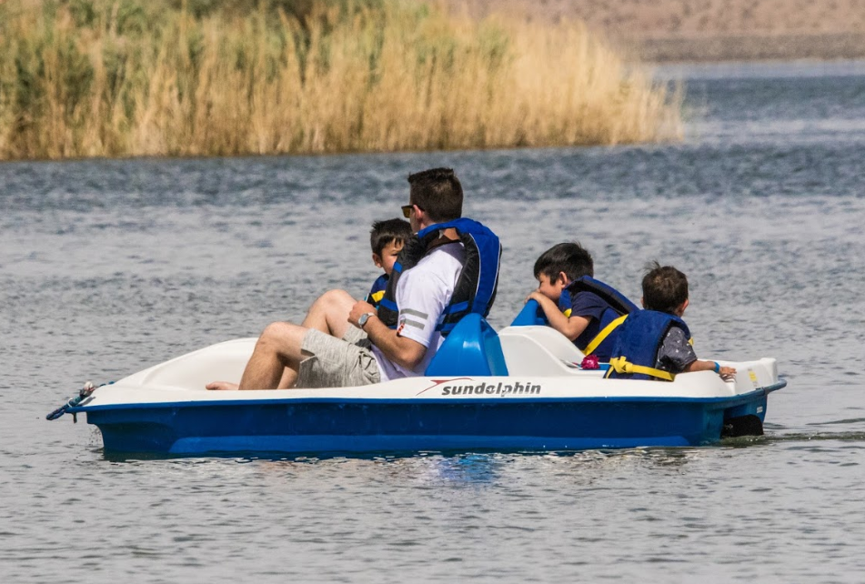 1 Hour Pedal Boat Rental (for up to 2 adults & 2 small kids 40 lbs & under)