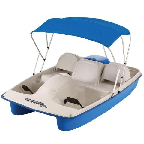 2 Hour Electric Pedal Boat Rental (for up to 2 adults & 2 small kids) *NO SHADE CANOPY*