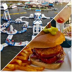 Aqua Park & A Burger at One5 Lakeside Restaurant